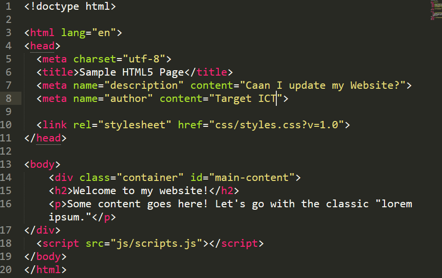 Make changes to your static HTML website