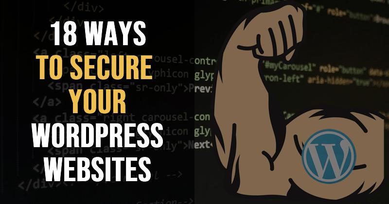 harden wordpress - 18 ways to secure your wordpress installation